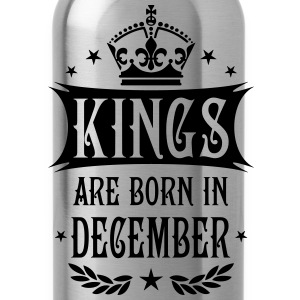 Kings are born in December King Birthday Gift Vint - Water Bottle
