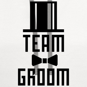 Team Groom Bachelor Party JGA Cylinder Hut BFF T-S - Contrast Hoodie