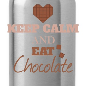 Keep Calm - Keep Calm and eat chocolate - Water Bottle