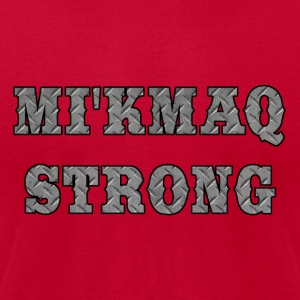 MI'KMAQ STRONG STEEL - Men's T-Shirt by American Apparel