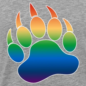 Gradient Pattern Gay Bears Pride Bear Paw - Men's Premium T-Shirt
