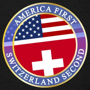 AMERICA FIRST SWITZERLAND SECOND Aprons - Men's T-Shirt