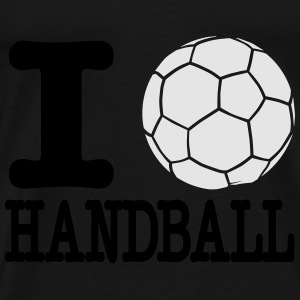 i love handball ball 2c Hoodies - Men's Premium T-Shirt