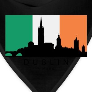 Dublin Ireland Skyline Irish Flag - Bandana