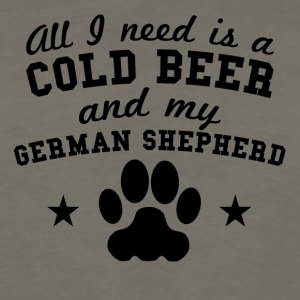 All I Need Is A Cold Beer And My German Shepherd - Men's Premium Long Sleeve T-Shirt