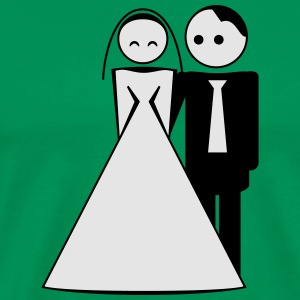 couple / wedding / mariage / bride and groom 2c Molletons - T-shirt premium pour hommes