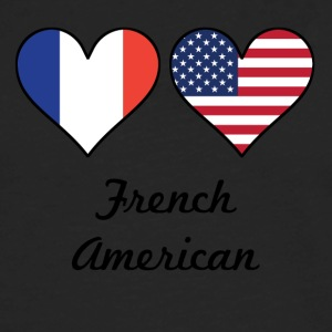 French American Flag Hearts - Men's Premium Long Sleeve T-Shirt