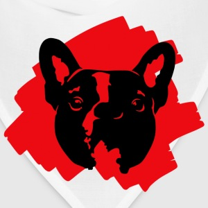 French Bulldog tshirt red 2 - Bandana