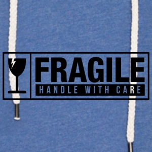Fragile Handle With Care Baby Bodysuits - Unisex Lightweight Terry Hoodie