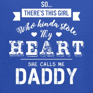 Girl Kinda Stole My Heart She Calls Me Daddy Shirt - Women's Flowy Tank Top by Bella