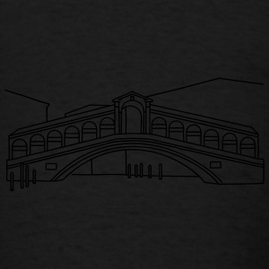 Rialto Bridge Venice Aprons - Men's T-Shirt