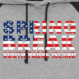 sprin break South Padre I T-Shirts - Colorblock Hoodie