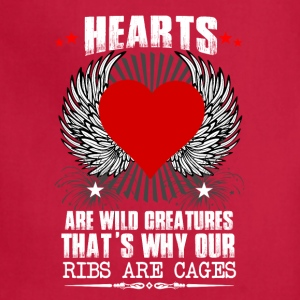 Hearts Ribs Are Cages T-Shirts - Adjustable Apron