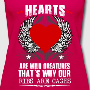 Hearts Ribs Are Cages T-Shirts - Women's Premium Tank Top