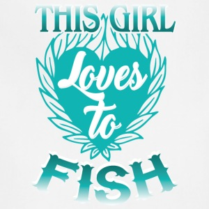This Girl Loves To Fish Fishing T Shirt - Adjustable Apron