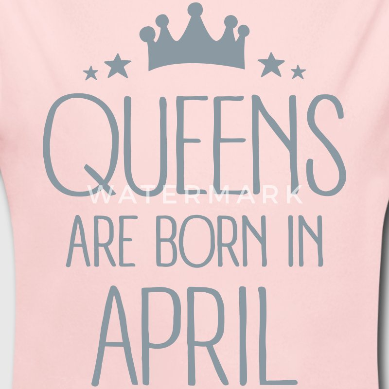 Queens Are Born In April Baby Bodysuits - Long Sleeve Baby Bodysuit