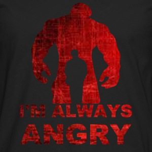 i'm always angry-red T-Shirts - Men's Premium Long Sleeve T-Shirt