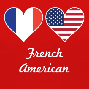 French American Flag Hearts - Women's Premium Long Sleeve T-Shirt