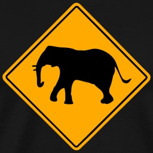 Elephant Road Sign Hoodies - Men's Premium T-Shirt