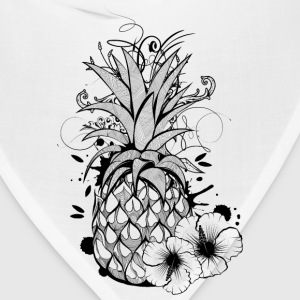 Pineapple with hibiscus blossom T-Shirts - Bandana