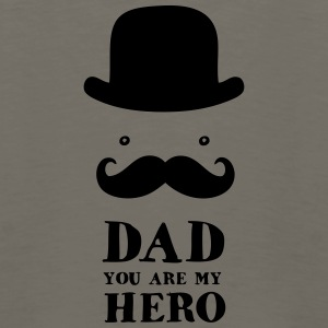 Father's Day: Dad - You are my Hero Baby Bodysuits - Men's Premium Long Sleeve T-Shirt