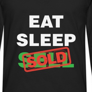 Real estate agent - Eat Sleep Sell Sold - Men's Premium Long Sleeve T-Shirt