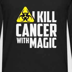 Radiation Therapist - I kill cancer with magic - Men's Premium Long Sleeve T-Shirt