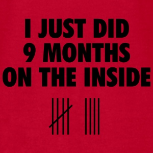 I just did 9 months on the inside Baby Bodysuits - Men's T-Shirt by American Apparel