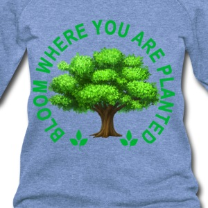 bloom_where_planted_tshirt_ - Women's Wideneck Sweatshirt