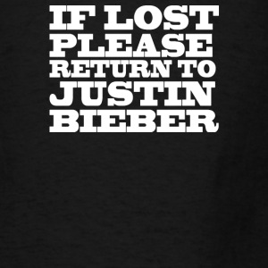 If lost please return to justin  - Men's T-Shirt