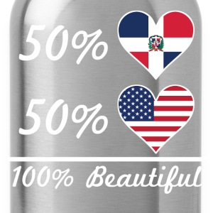 50% Dominican 50% American 100% Beautiful - Water Bottle