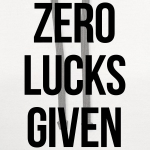 ZERO LUCKS GIVEN T-Shirts - Contrast Hoodie