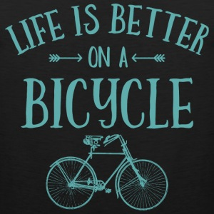 Life's Better On A Bicycle T-Shirts - Men's Premium Tank