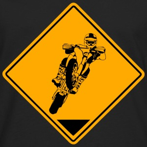 Supermoto Road Sign T-Shirts - Men's Premium Long Sleeve T-Shirt