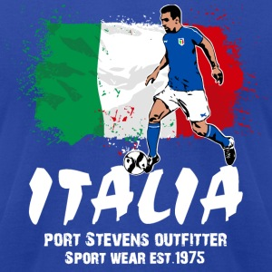 Italy Soccer Hoodies - Men's T-Shirt by American Apparel