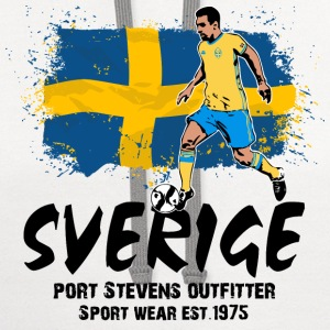 Sweden Soccer T-Shirts - Contrast Hoodie