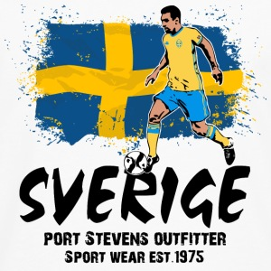 Sweden Soccer T-Shirts - Men's Premium Long Sleeve T-Shirt