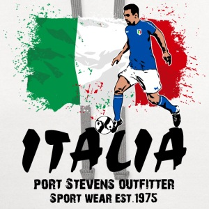 Italy Soccer T-Shirts - Contrast Hoodie