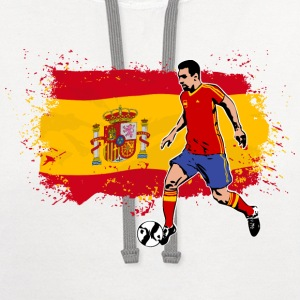 Spain Soccer T-Shirts - Contrast Hoodie