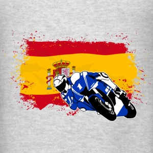 MotoGP - Superbike - Spain Flag Hoodies - Men's T-Shirt