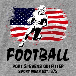 American Football  -  USA Flag Hoodies - Men's Premium T-Shirt