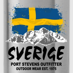 Sweden - Mountains & Flag Hoodies - Water Bottle