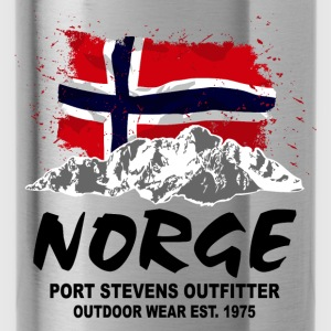 Norway - Mountains & Flag Hoodies - Water Bottle