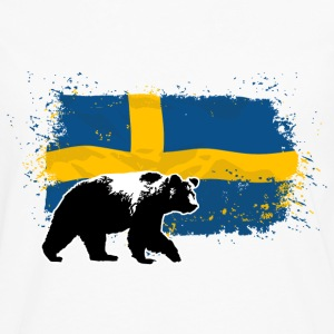 Sweden - Bear & Flag T-Shirts - Men's Premium Long Sleeve T-Shirt