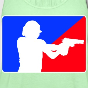 Shooter T-Shirts - Women's Flowy Tank Top by Bella