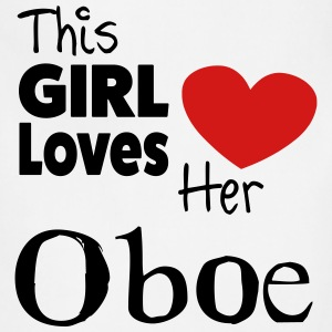 This Girl Loves Her Oboe Hoodie - Adjustable Apron