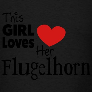 This Girl Loves Her Flugelhorn - Men's T-Shirt