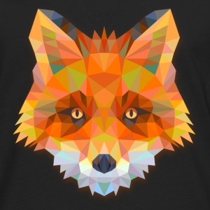 Geometric Fox T-Shirts - Men's Premium Long Sleeve T-Shirt
