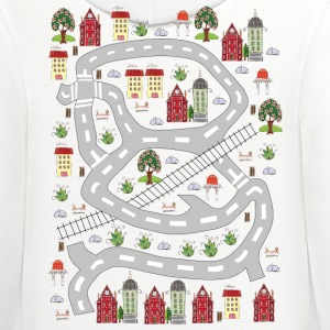 French houses. Men's T-shirt. Print in back. - Contrast Hoodie