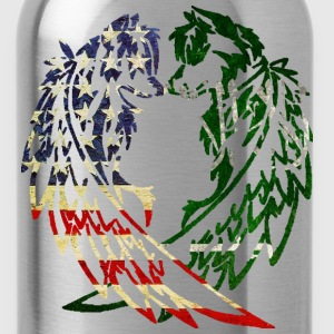 AMERICA SAUDI ARABIA WOLF T-Shirts - Water Bottle